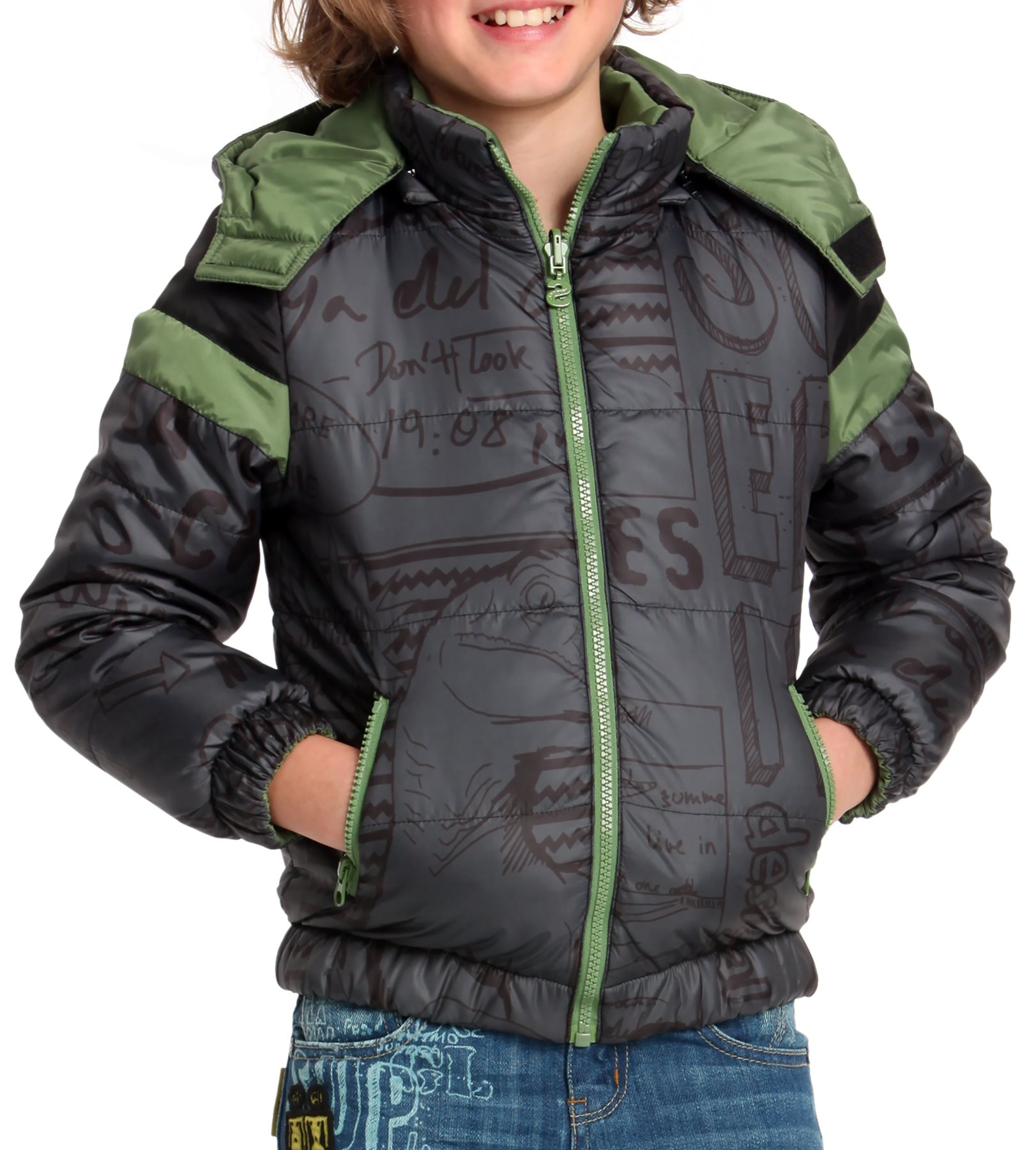 desigual jungenkleidung kids inhouse winterjacke. Black Bedroom Furniture Sets. Home Design Ideas