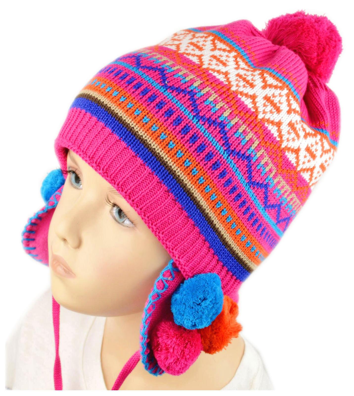 exklusive Schuhe neueste Kollektion laest technology MaxiMo   Inka-Mütze mit pinkfarbenem Mustermix für Mädchen