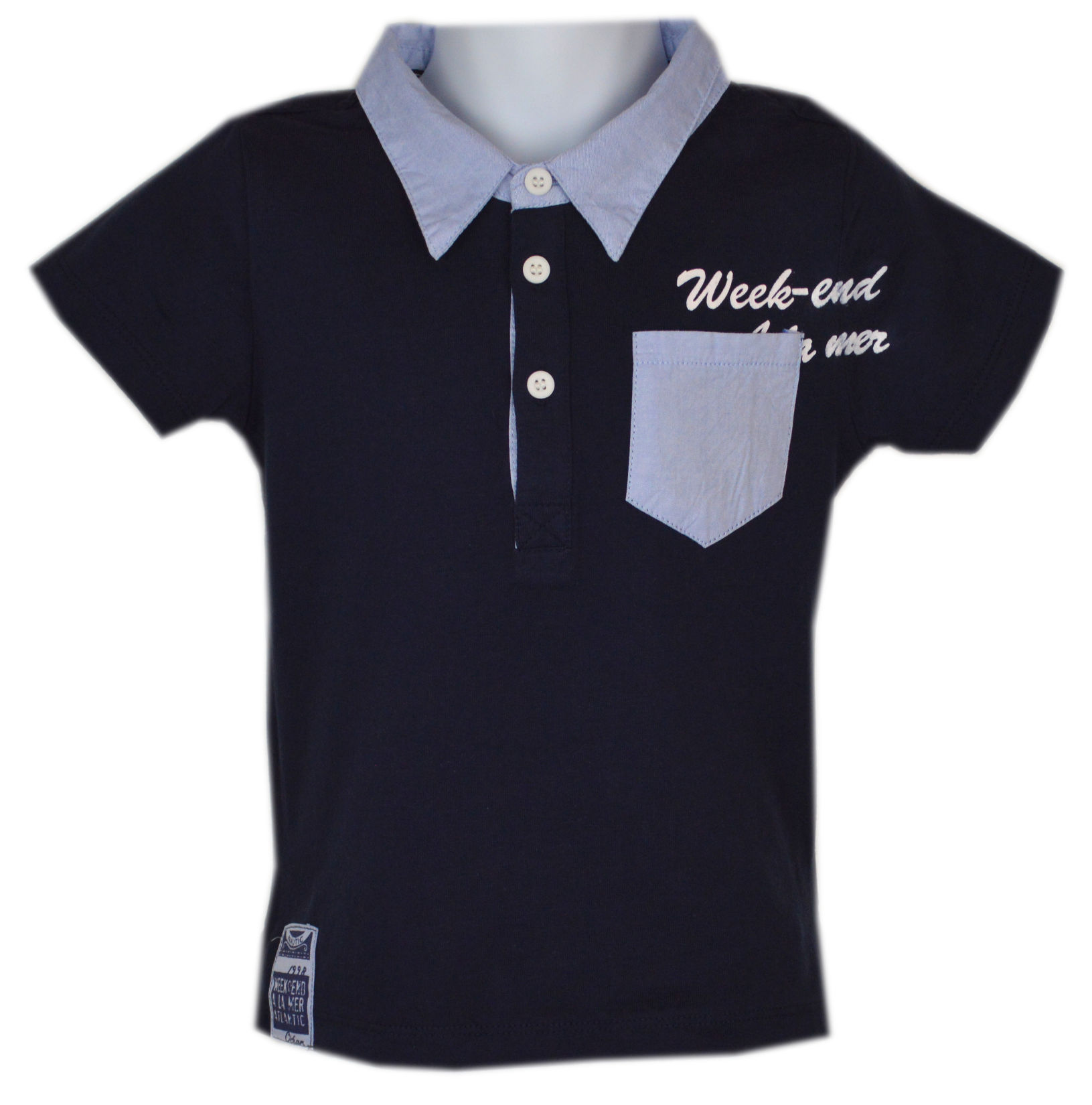 week end a la mer mode f r jungen polo shirt berlioz in navy. Black Bedroom Furniture Sets. Home Design Ideas