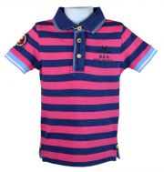 Tolles Polo-Shirt f�r Jungen mit Highlights wie Badges und Stitchings in darkpink-navy von NZA junior